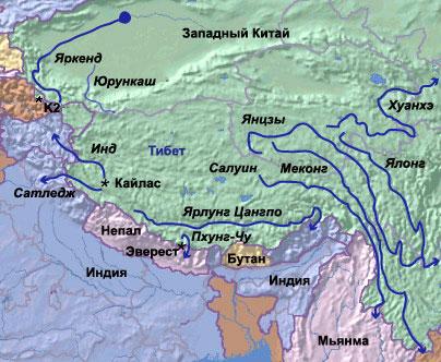 Река янцзы голубая река