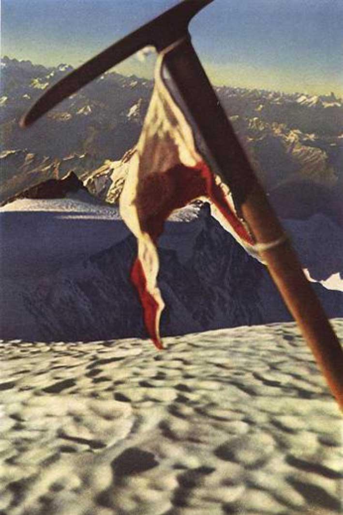 Ледоруб Буля на вершине Нанга Парбат