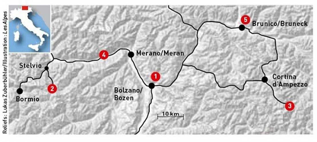 Карта  музеев Месснера