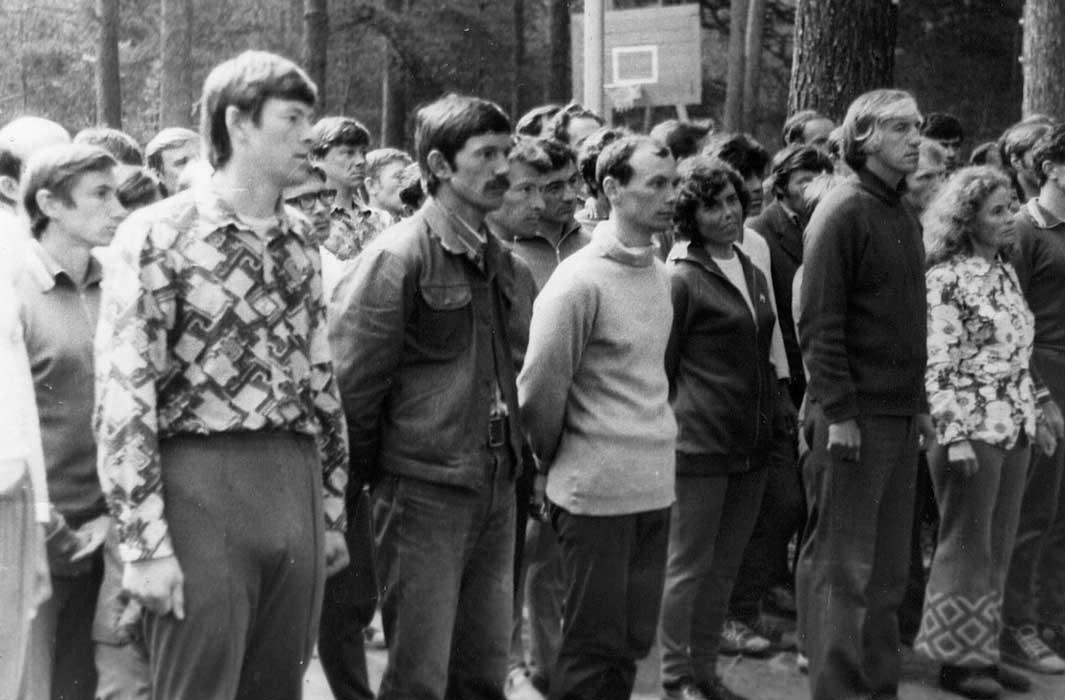Курсанты школы 1975
